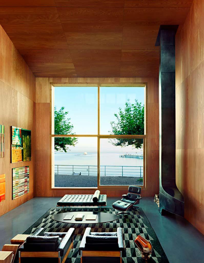 Гостиная с видом на Женевское озеро