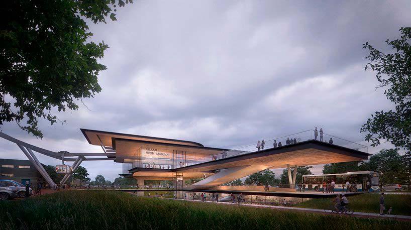 Станция канатной дороги IJbaan в Амстердаме. Проект UNStudio