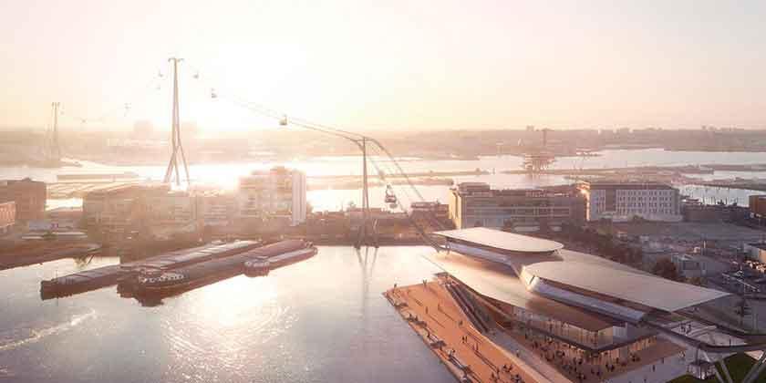 В Амстердаме построят канатную дорогу по проекту UNStudio