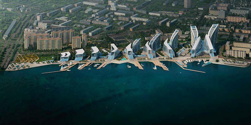 9 зданий на 13,9-га набережной Новороссийска. Проект ZHA