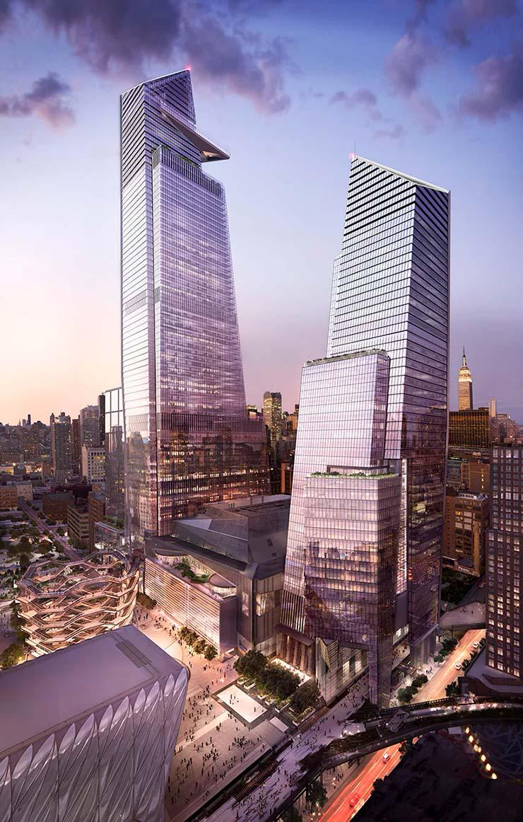 Башня 30 Hudson Yards в Нью-Йорке высотой 395 метров
