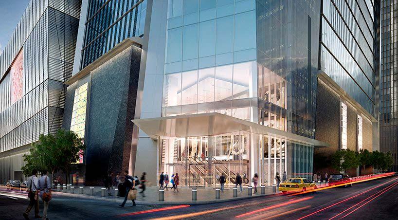 Подиум башни 30 Hudson Yards на Манхэттене
