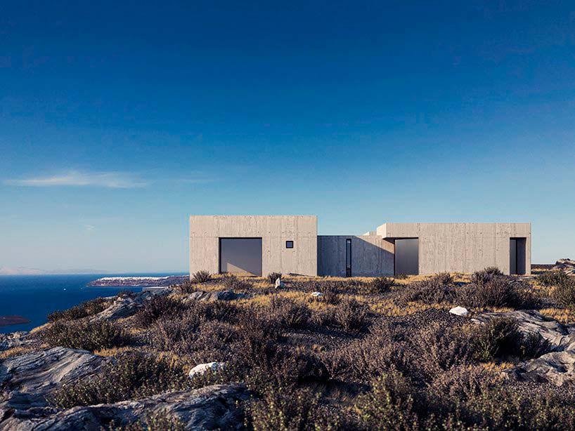 Дом на скале у моря в Греции от студии Kapsimalis