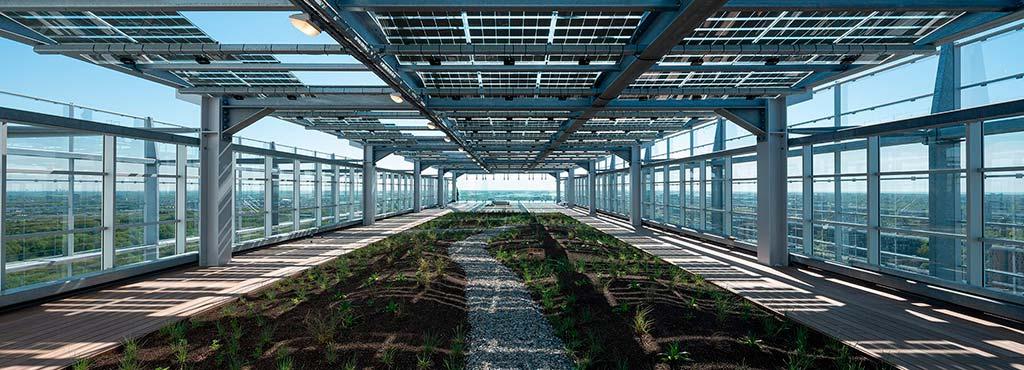 Сад на крыше здания ЕПВ в Рейсвейке от Жана Нувеля