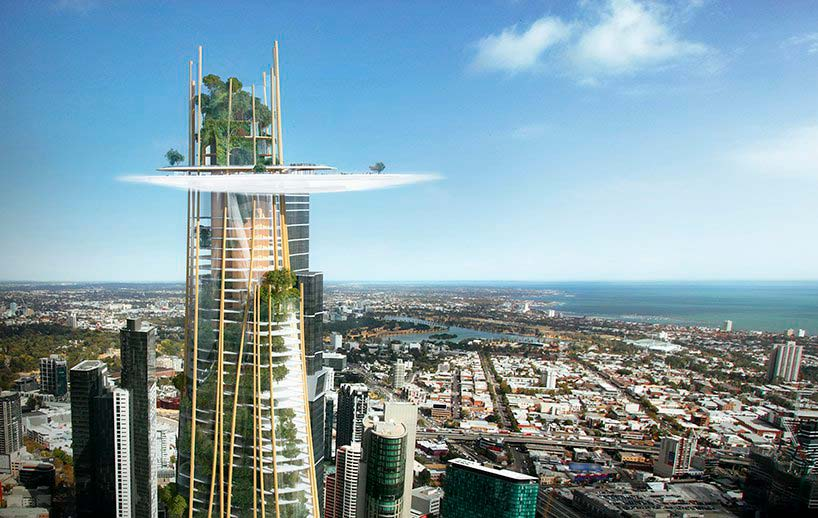 Облако на вершине небоскреба. Проект MAD Architecture