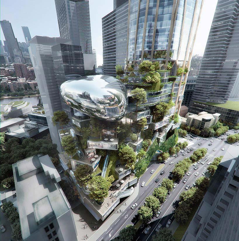 Ландшафтный подиум небоскреба. Проект MAD Architecture