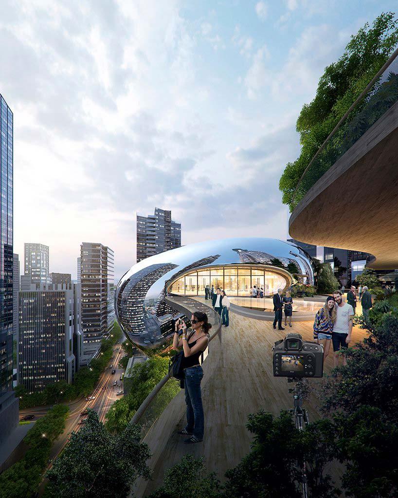 Проект небоскреба для Мельбурна от MAD Architecture