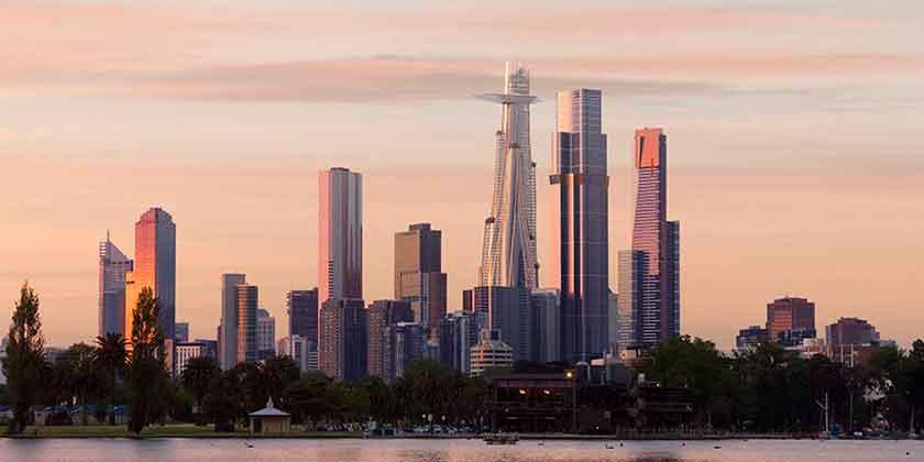 Бюро MAD предложило зеленый небоскреб для Мельбурна