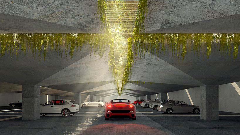 Подземная парковка Miami Produce. Проект BIG