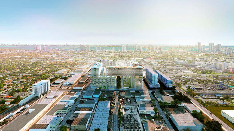Жилой микрорайон на сваях Miami Produce. Проект BIG