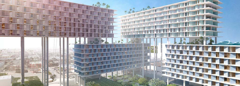 Квартал на сваях Miami Produce. Проект BIG
