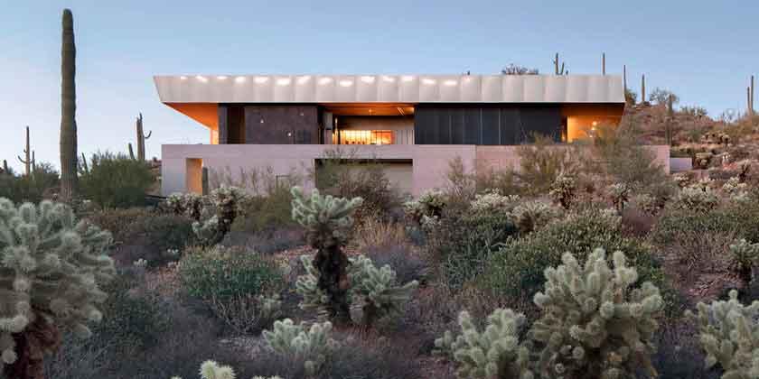Дом в пустыне Аризоны от Wendell Burnette Architects