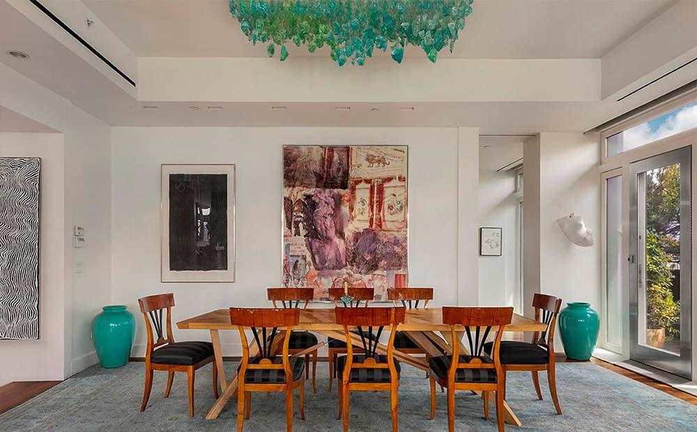 Дизайн столовой в квартире Мерил Стрип