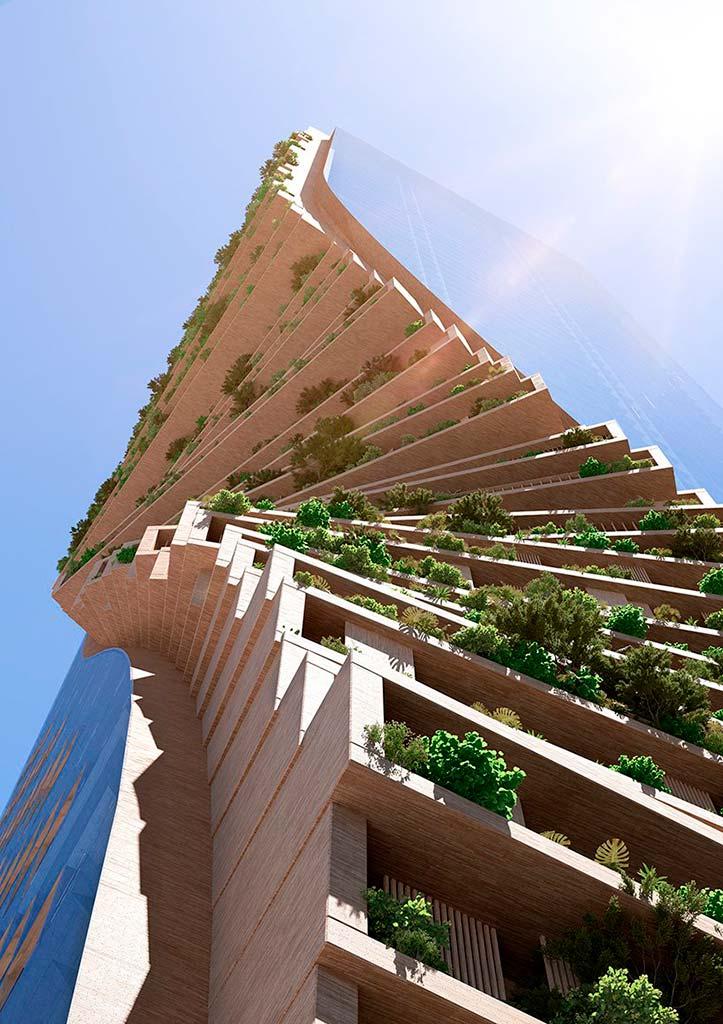 Танцующая башня в Мельбурне от UNStudio