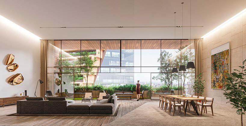 Элитная квартира в небоскребе. Проект UNStudio