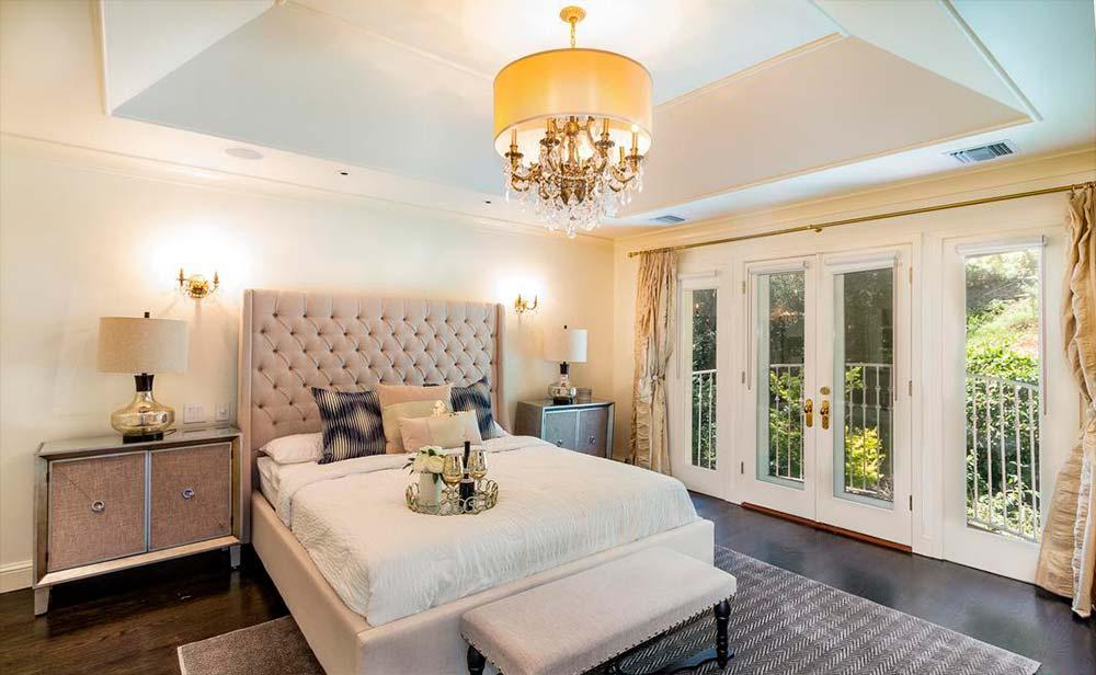 Спальня Серены Уильямс в доме в Бель-Эйр