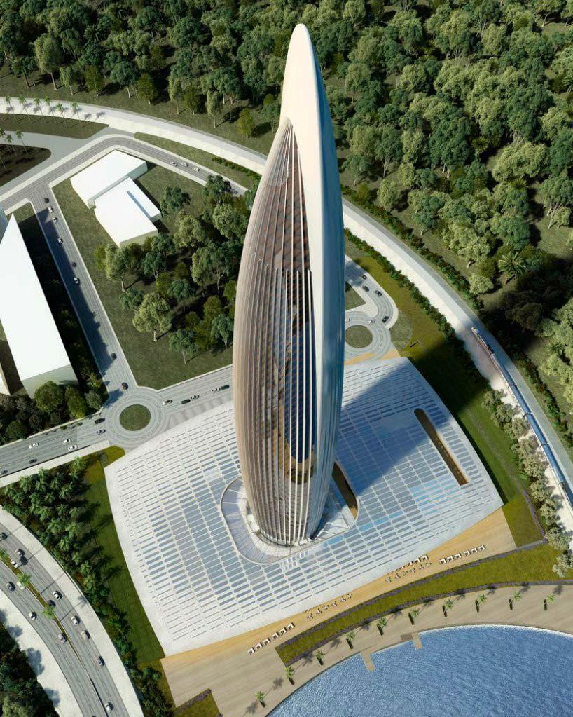 Небоскреб Bank of Africa Tower. Высота 250 метров