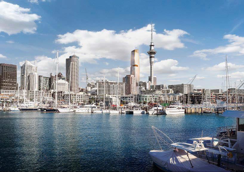 Панорама на небоскребы Окленда, Новая Зеландия