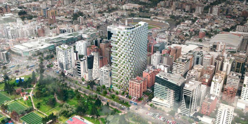 IQON - самое высокое здание в Кито, Эквадор. Проект BIG