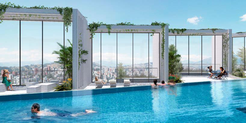 Плавательный бассейн на крыше небоскреба IQON от BIG