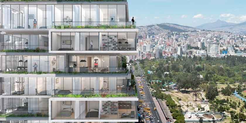 Бюро BIG проектирует небоскреб IQON для Эквадора