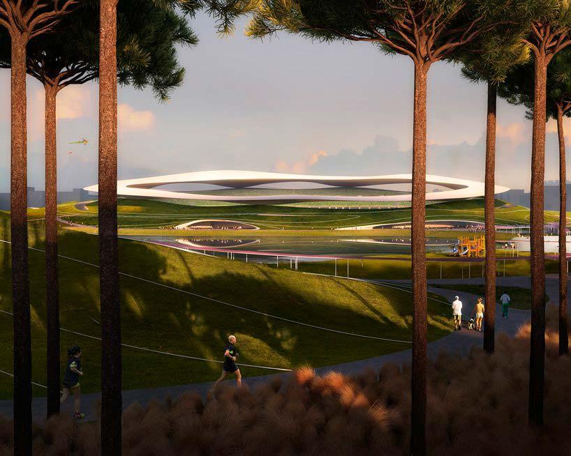 Спортивный кампус со стадионом на 30 000 мест в Цюйчжоу