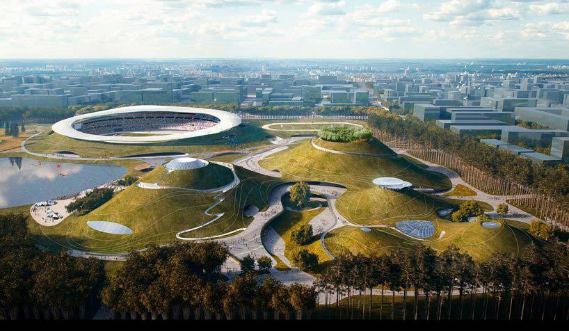 Спортивный кампус со стадионом в Цюйчжоу от MAD Architects