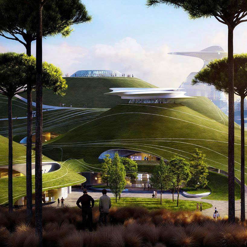 Спортивный кампус площадью 700 000 кв. м. в Цюйчжоу от MAD Architects