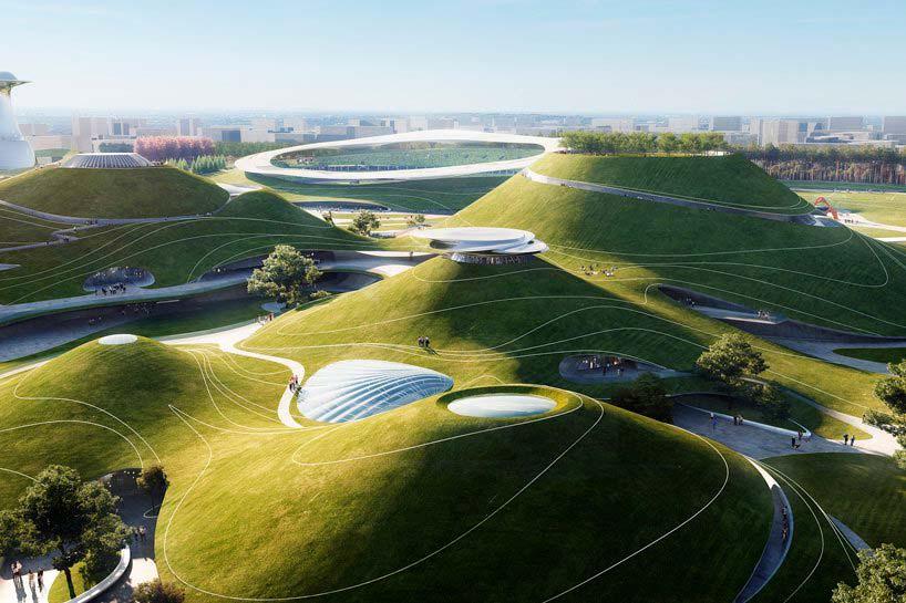 Фантастический спортивный кампус в Цюйчжоу от MAD Architects