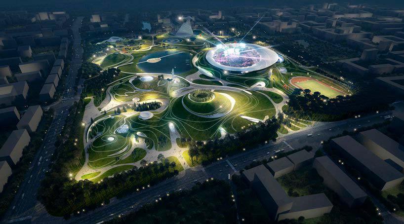 Спортивный кампус в Цюйчжоу. Проект MAD Architects