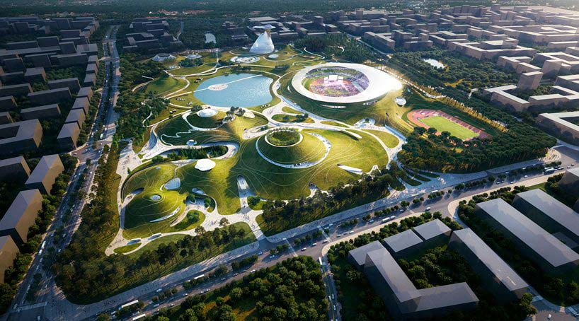 Спортивный кампус в Цюйчжоу по проекту MAD Architects