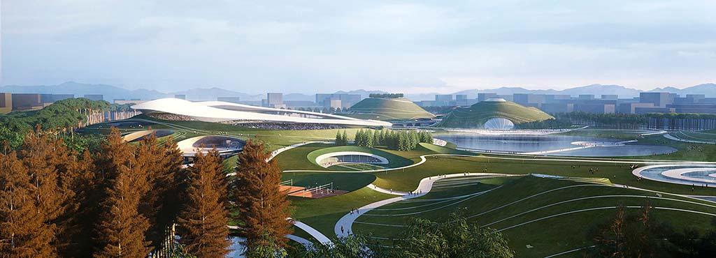Спортивный кампус в городе Цюйчжоу по проекту MAD Architects