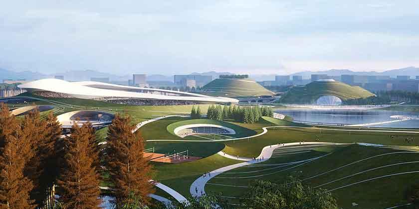 MAD Architects строит спортивный кампус в Цюйчжоу | фото