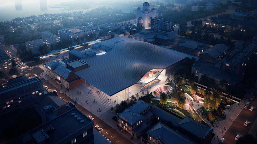 Проект Концертного зала Свердловской филармонии от Zaha Hadid