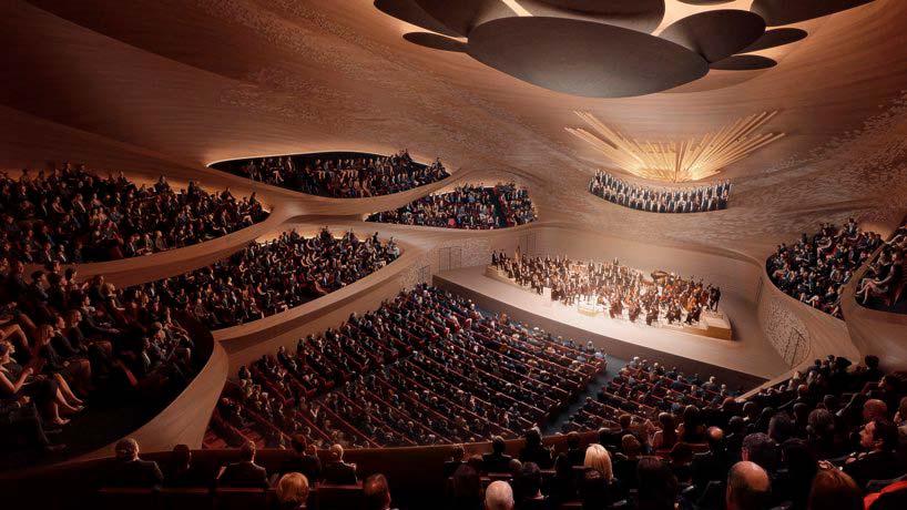 Концертный зал филармонии на 1 600 мест от Zaha Hadid Architects