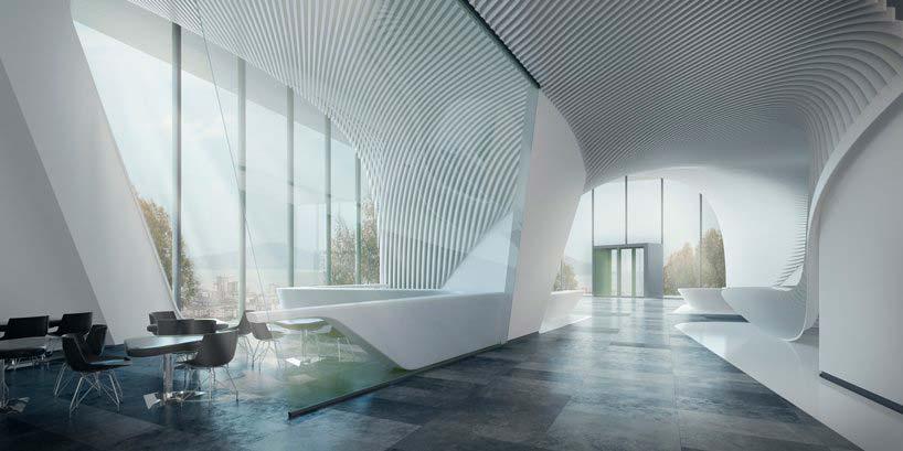 Дизайн интерьера телебашни высотой 369 метров
