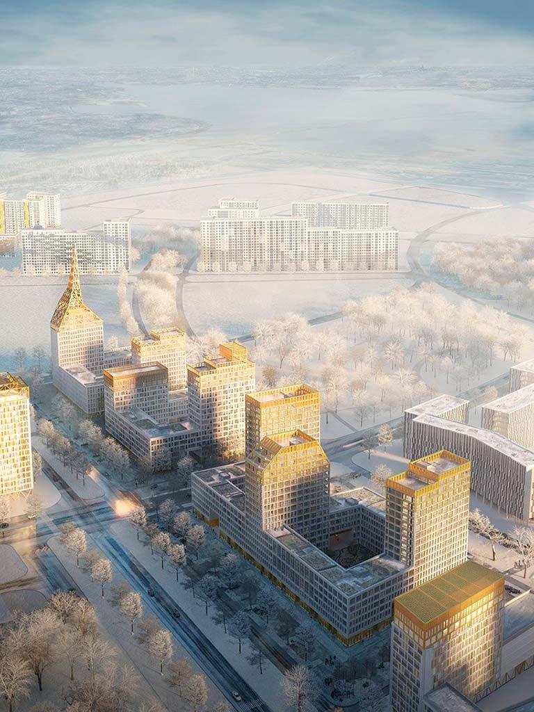 Комплекс The Golden City на Васильевском острове от KCAP& Orange