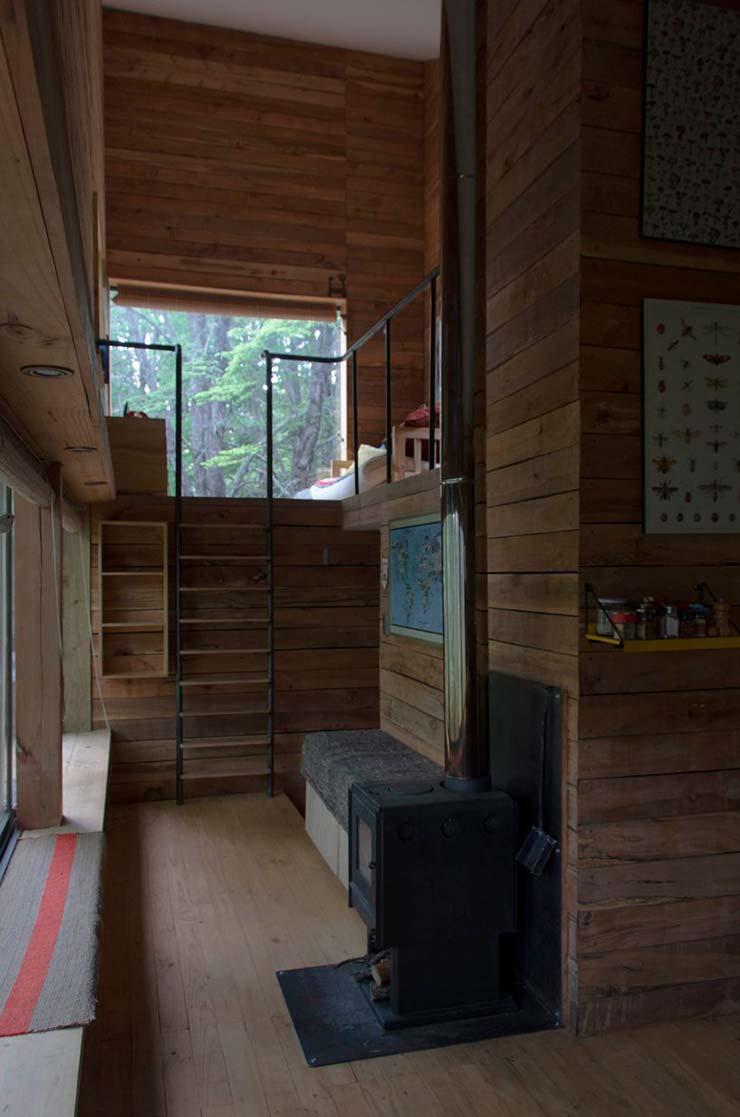 Деревянный интерьер дома в Чили от DRAA