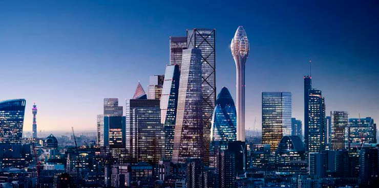 300-метровая башня-аттракцион Тюльпан от Foster + Partners