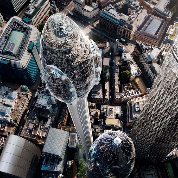 Небоскреб-тюльпан для Лондона от Нормана Фостера