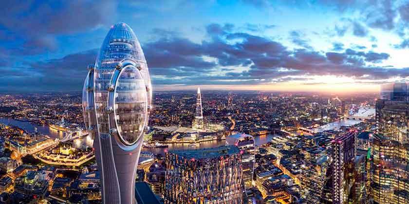Норман Фостер показал небоскреб-аттракцион «Тюльпан» | фото