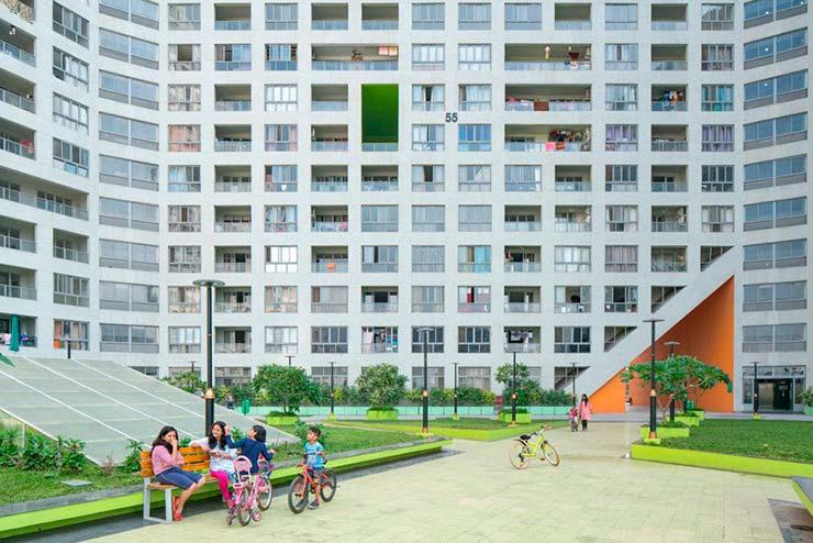 Внутренний двор ЖК Future Towers на 1000 квартир от MVRDV