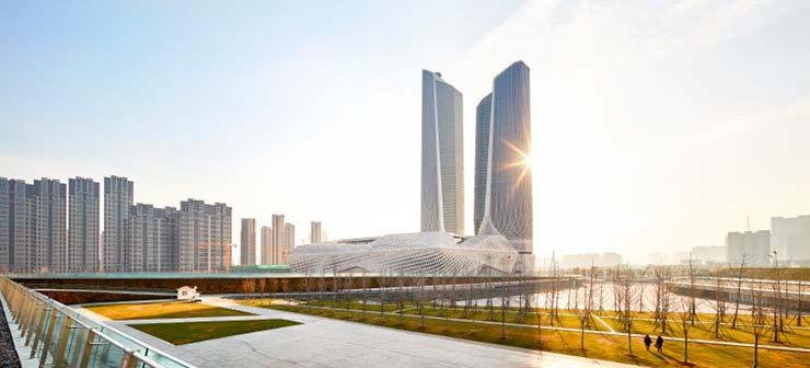 Небоскребы Nanjing International Youth Cultural Centre