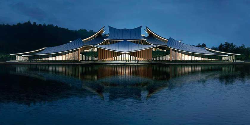 Mars Studio предлагает построить плавающий остров в Китае | фото
