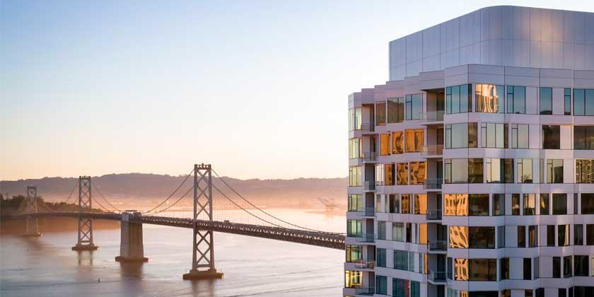 В Сан-Франциско построена винтовая башня Mira высотой 122 метра