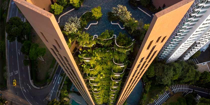В Сингапуре построен небоскрёб-сад Eden в 22 этажа