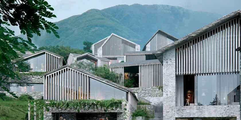 Oppenheim Architecture построит курорт на холмах Асконы, Швейцария