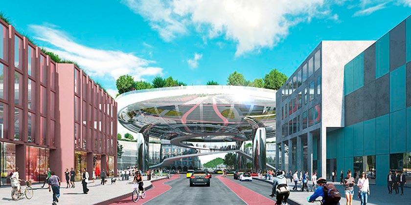MVRDV построит парящий парк в Карлсруэ, Германия