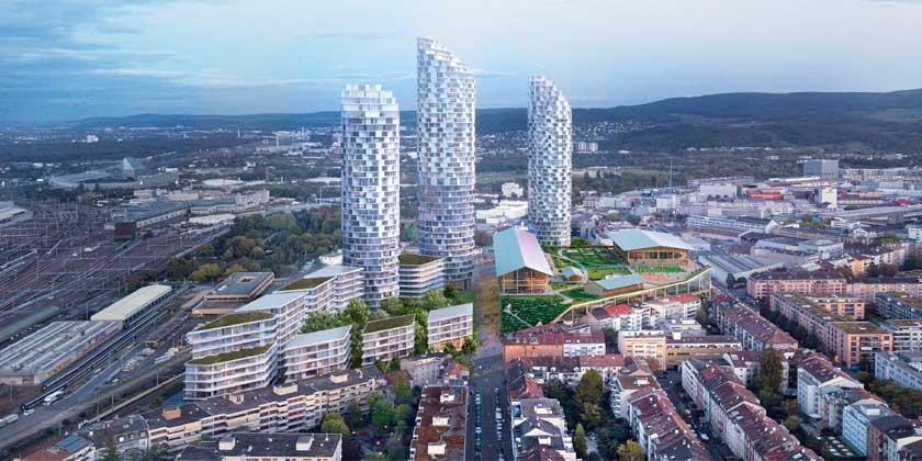 Herzog & de Meuron готовит ЖК с тремя башнями для Безеля | фото