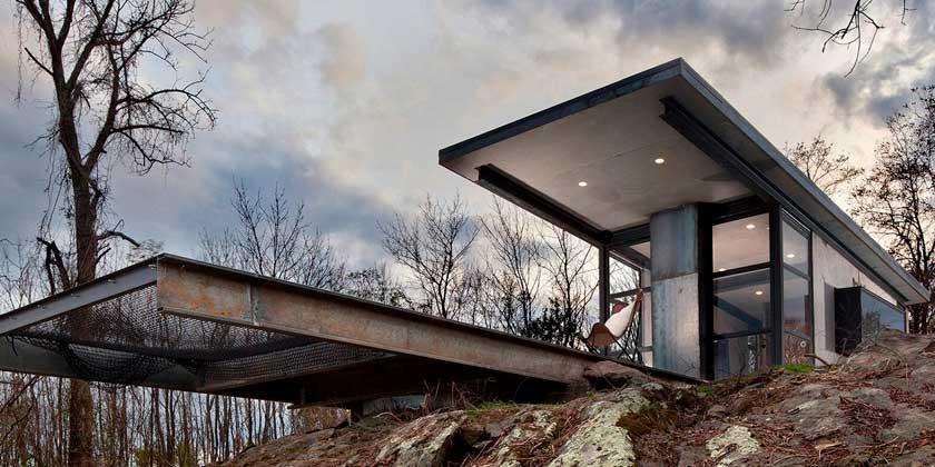 Маленький домик от Greenspur для побега в тишину природы | фото